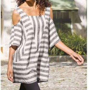 Soft Surroundings Sunset Cold Shoulder Tunic Top